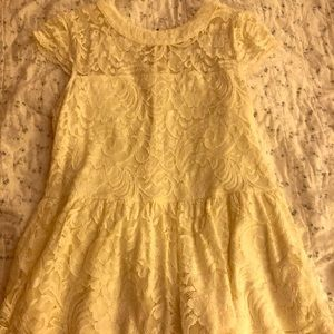 Beautiful lace peplum top from Modcloth - NWOT